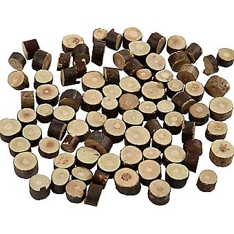 Mini Natural Wood Log Pieces with Bark for Floristry & Adult Craft - 7mm to 10mm