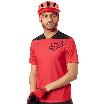 Fox Bright Red 2018 Indicator Asym Short Sleeved MTB Jersey