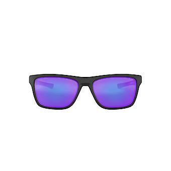 Oakley Holston Sunglasses In Matte Black Violet Iridium
