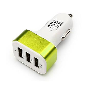 Stuff Certified ® 5-Pack High Speed ??3-Port Charger / Carcharger Green