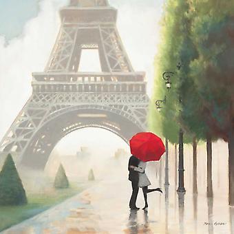 Paris Romance II Poster Print by Marco Fabiano