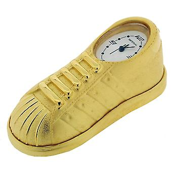 Gift Time Products Trainer Shoe Mini Clock - Gold