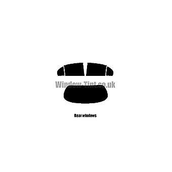 Pre cut window tint - Jaguar S-Type 4-Door Saloon - 1999 to 2008 - Rear windows