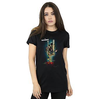آعجوبة الهاربون ملصق صديقها تناسب القميص المرأة