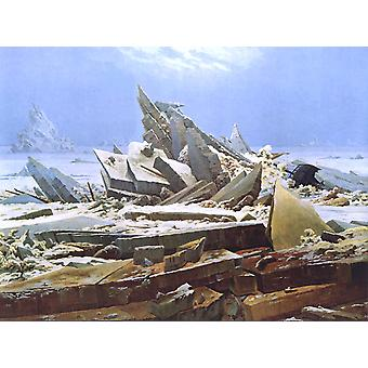 Polar havet Caspar David Friedrich, 50x40cm