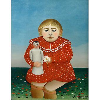 Portret van een kind, Henri Rousseau, 50x40cm