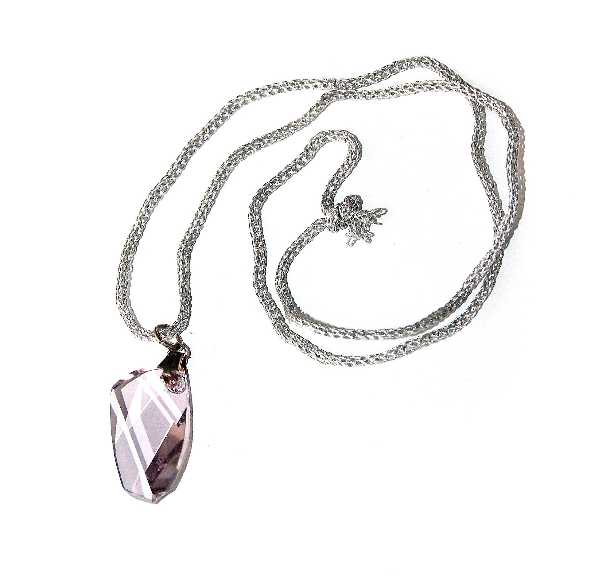 Waooh - Jewelry - Swarovski / Pendentifn pale violet wing and rubber cord