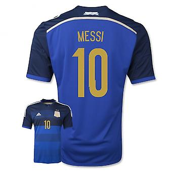 2014-15 Argentina World Cup bort skjorta (Messi 10) - barn