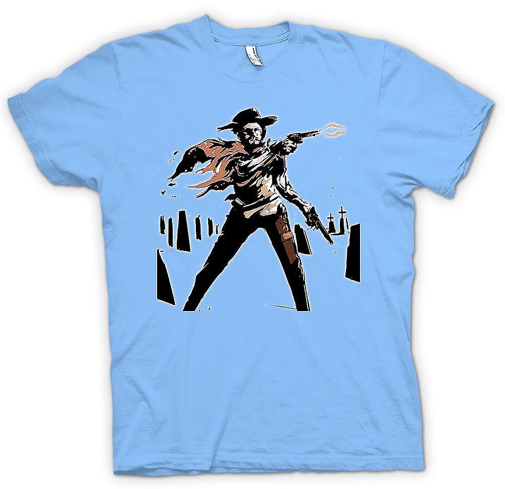 Mens T-shirt - Spaghetti Western - Cowboy - Sketch
