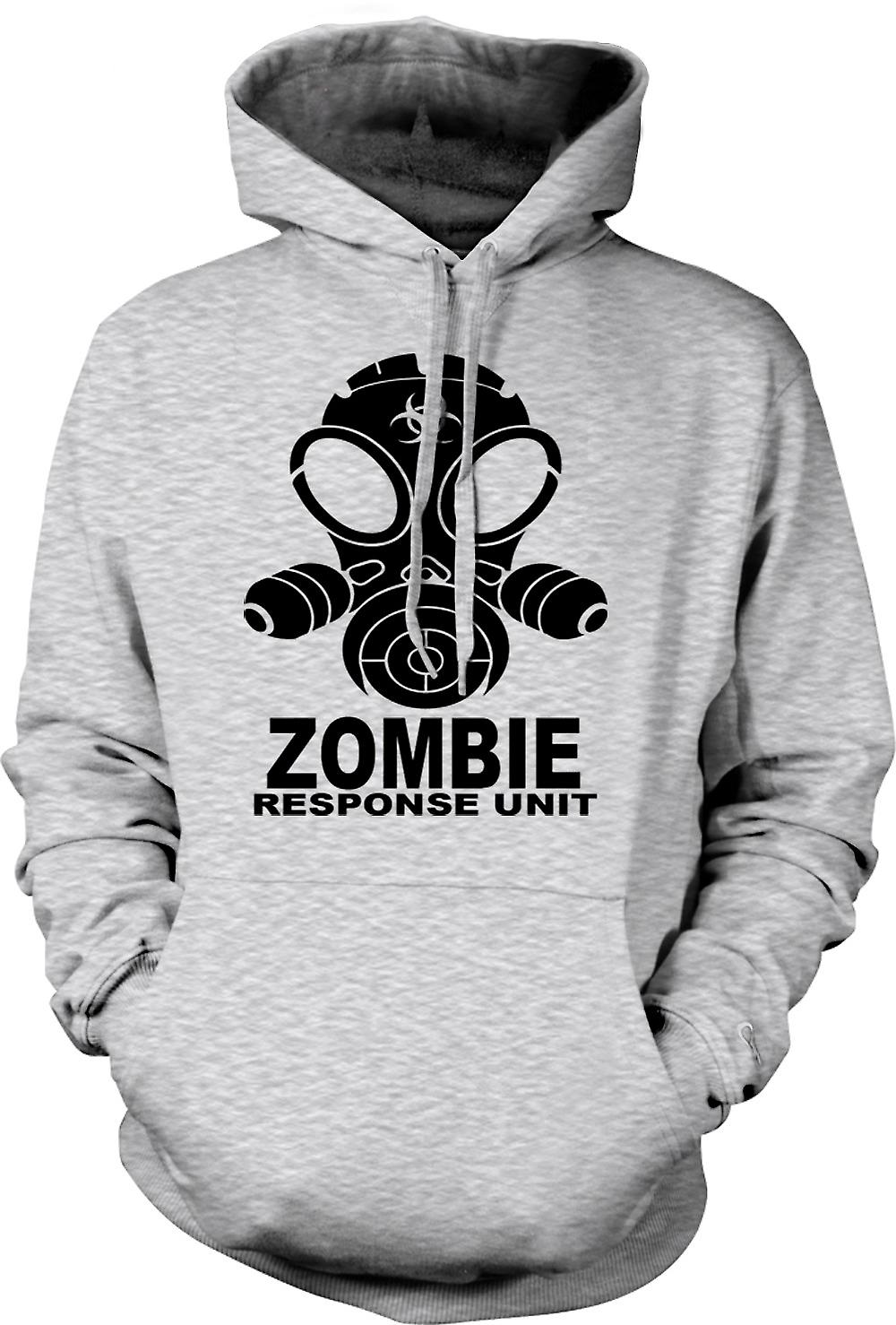 Mens hettegenser - Zombie respons enhet - Gasmask