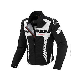 Spidi Black-White Warrior H2Out Waterproof Motorcycle Jacket