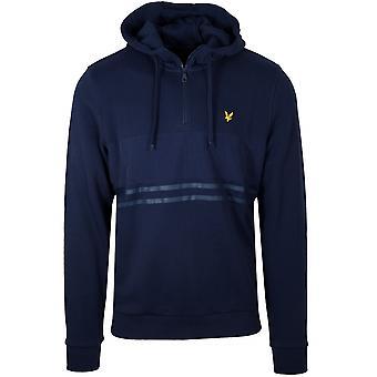Lyle & Scott Lyle & Scott Navy blå halv Zip Hooded Sweatshirt