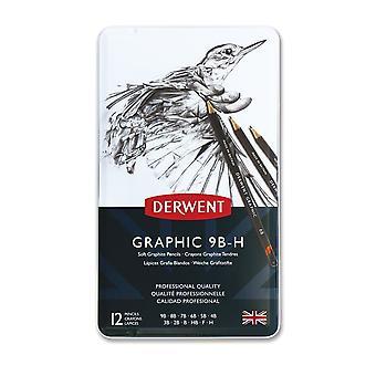 Derwent Graphic Pencils 12 Tin (Soft)