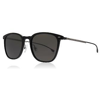 Hugo Boss BOSS0974/S 807 Black BOSS0974/S Square Sunglasses Lens Category 3 Size 54mm