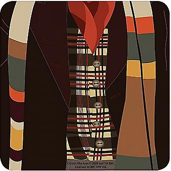 Dr. Who Fourth Doctor Graphic single drinks mat/coaster  (hb)