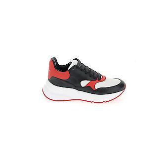 Alexander Mcqueen Black/red Leather Sneakers