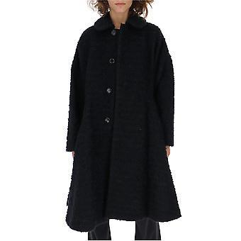 Comme Des Garçons Black Cotton Coat