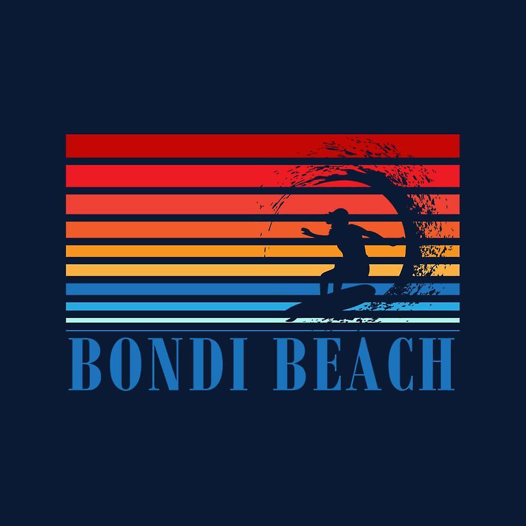 Bondi Beach Retro 70s Surf Silhouette Kid's Hooded Sweatshirt
