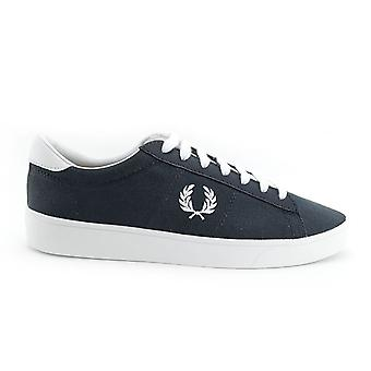 Spencer lona/couro Fred Perry masculino sapatos B7523-491