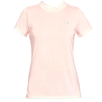 Under Armour Tech Twist Womens Ladies Fitness Training T-Shirt Tee Pink