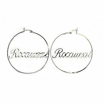 Rocawear Silver Plated Large Round Creole Earrings
