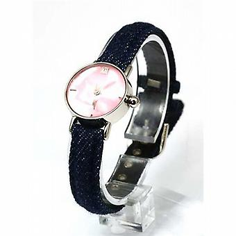 Carvel Mother Of Pearl Dial Girls Denim Strap Fashion Watch A390.16AV