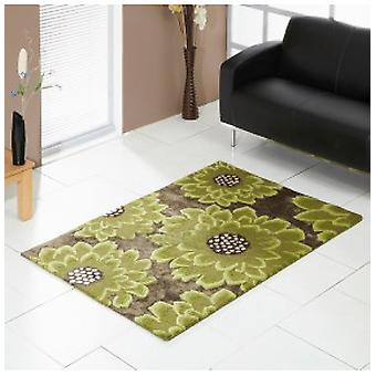 Rugs -Unique Bloom - Chocolate & Green