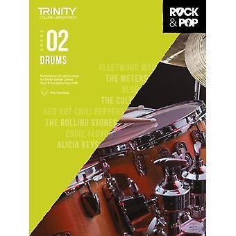 Trinity Rock & Pop 2018 Drums Grade 2 - 9780857366405 Book