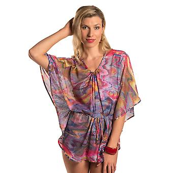 Kiniki Sorrento Tan Through Beach Poncho