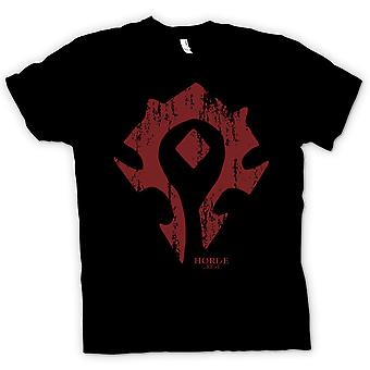 Mens T-shirt - Horde Crest Logo - World Of Warcraft inspiriert