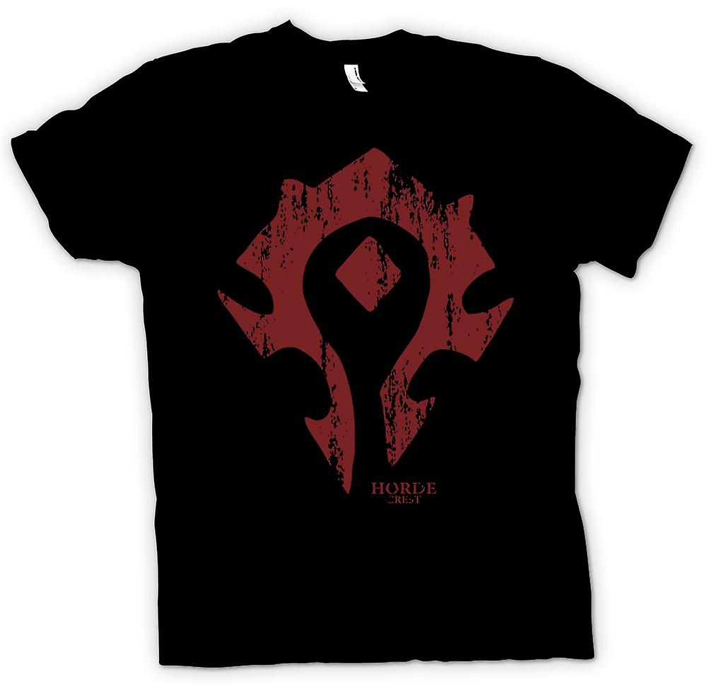Kids T-shirt - Horde Crest Logo - World Of Warcraft Inspired