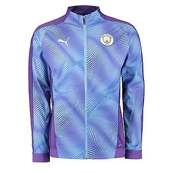 2019-2020 Manchester City Puma Stadium Jacket (Purple)