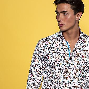 Claudio Lugli Thick Cotton Shirt With Paisley Garden Print