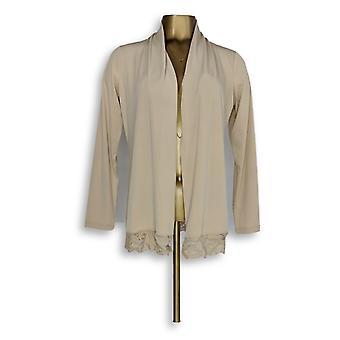 Susan Graver Femme-apos;s Sweater Knit Long Sleeve Cardigan Beige A273460