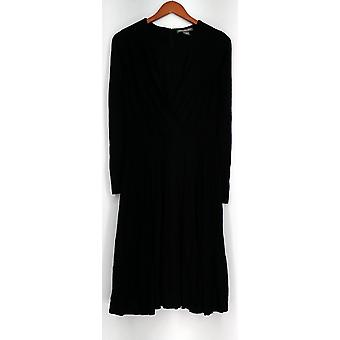 Kate & Mallory Dress Long Sleeve w/ Gather Front Detail Black A430988