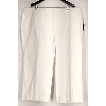 Alfani Plus Pants Cropped Control Pants White Womens