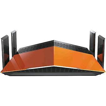 D-link exo ac1750 router wireless dual band 1,750 mbps 4 x rj-45 1 lan porte x rj-45 wan porta colore arancione/nero