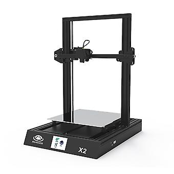 Huaxu x2 0-200/s fast speed high precision printing 3.5-inch lcd touch-screen 3d printer-black