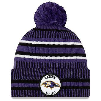 New Era Sideline Accueil 2019 Bommel Hat Baltimore Ravens