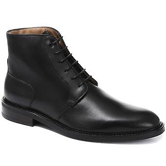 Plain fronted leather derby boot - davinc