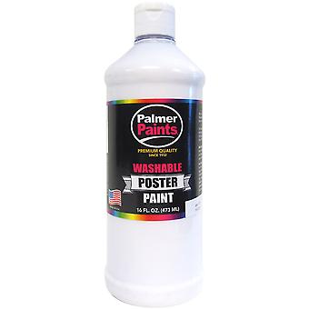 Washable Poster Paint 16oz-White WP16OZ-266