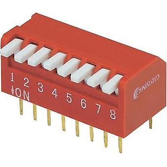 DIP switch Number of pins 8 Piano-type TRU COMPONENTS DP-08