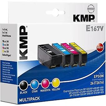 KMP Ink replaced Epson T2616 (26) Compatible Set Black, Cyan, Magenta, Yellow 1626,4850