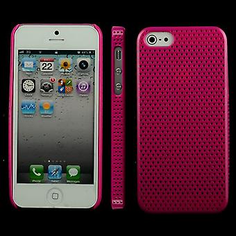 Perforated plastic cover, very light, for iPhone 5 (Pink)