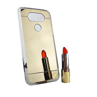 Mobile mirror mirror soft cover case protective case cover for LG G5 gold