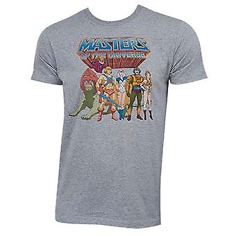 He-Man Masters Of The Universe grå tegn Logo Tee Shirt