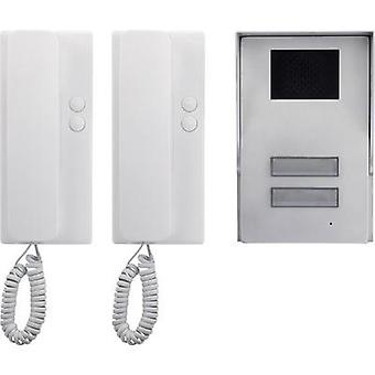 Door intercom Corded Complete kit Basetech Semi-d