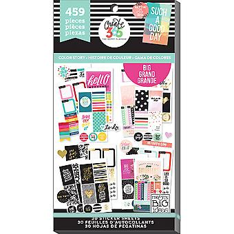 Create 365 Happy Planner Sticker Value Pack-Big Color Way PPSV-13