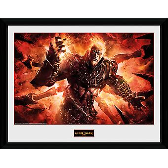 Gud for krig Ares indrammet Collector Print