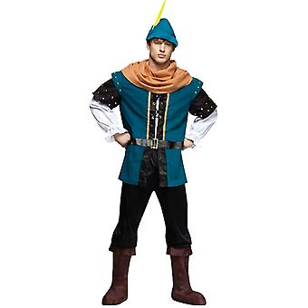 Robin Hood Thieves Medieval Warrior Men Costume One Size